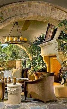 Dream outdoor fireplace