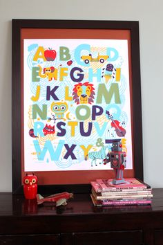 New alphabet Print by yours truly, Tad Carpenter.