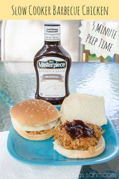Slow Cooker Barbecue Chicken with 5 minute prep time #ad