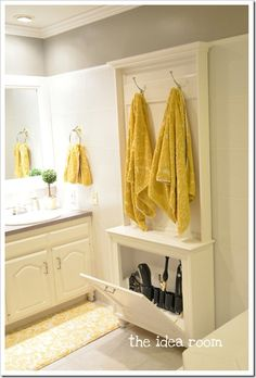 towel racks, tool storage, diy hair, hair tools, bathroom storage