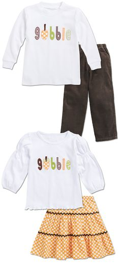 From CWDkids: Matching Gobble Outfits.