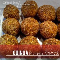 Quinoa Protein Snack. Agave, Peanut Butter, Almond Butter, Coconut - a homemade protein bar that tastes great!