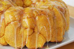 monkey bread, food, breakfast, bake, mapl glaze