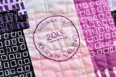Wonky Cross Quilt by make_something, via Flickr