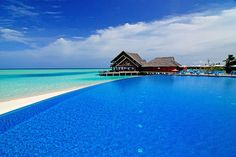 Blue on Blue, Infinity Pool, The Maldives Islands