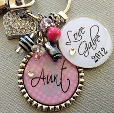 Shower Host Gift? Aunt Gift Grandma Mom Keychain Personalized Children's by buttonit, $25.50