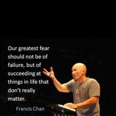 Success, failure, fear...