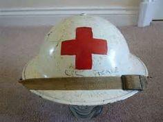 Korean war medic/nurse military helmet 1954