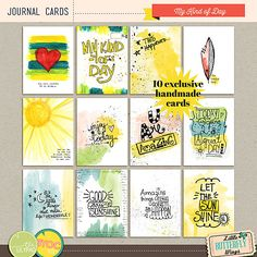 My kind of day {journal cards}