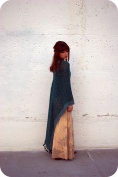 Crocheted shawl.