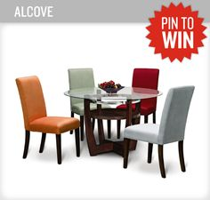Love the Alcove dinette! You can pick whatever color fits your dining room best! Maybe you can match the chair with your favorite football team! LOL. #PerfectTablegate