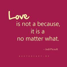 No matter what…