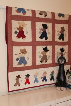 Sunbonnet Sam. Love these..my grandma made these for all the boys & Sunbonnet Sue for all the girls..and all by hand!