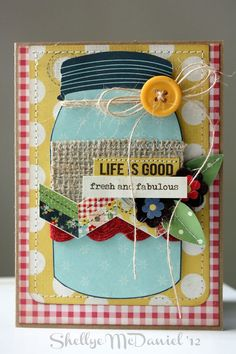 A card idea can also work for scrapbooking pages