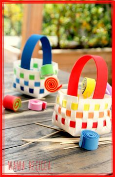 Basket made with craft foam - suitable for older children