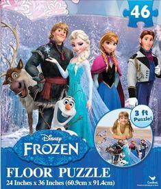 "Disney Frozen Floor Puzzle (46-Piece) 24"" x 36"" Disney http://www.amazon.com/dp/B007WOKOJO/ref=cm_sw_r_pi_dp_k8QXtb0A1E0QA8EK"