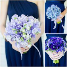 Smokey Mountain wedding  //  watson-studios blue flowers, mountain weddings, bridesmaid, smokey mountain, the bride, color combinations, petticoat, blue bouquets, floral