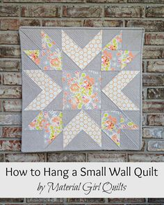 How to Hang a Small