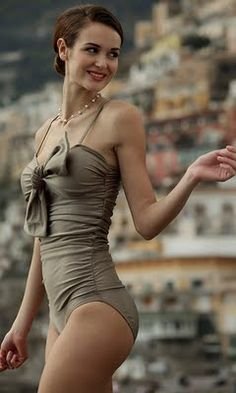 Retro bathing suit. Like style... Not so much color.