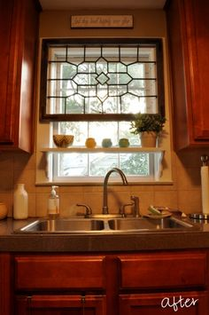 kitchen window idea courtesy of Guyerfamilyblog.com