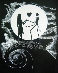 I want this a tattoo...The Nightmare Before Christmas is my favorite movie.  Maybe do this scheme on my back somewhere?