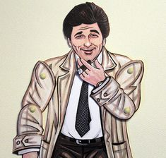 Columbo artculated paper doll