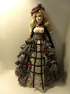 EVANGELINE GHASTLY OOAK BURTONESQUE VICTORIAN PROMENADE FASHION OUTFIT  DRESS