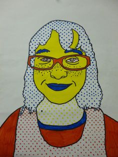 Artistic Freedom: 5th Grade Lichtenstein Portraits