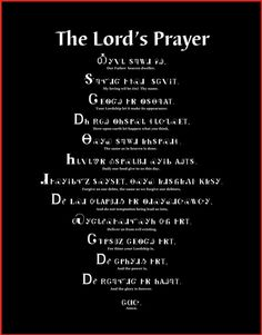 The Lord's Prayer in Cherokee....