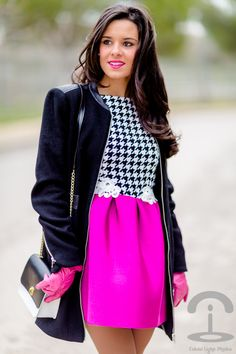 Houndstooth and pink