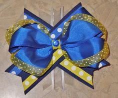 Custom St. Louis Blue's Hockey Hair Bow!