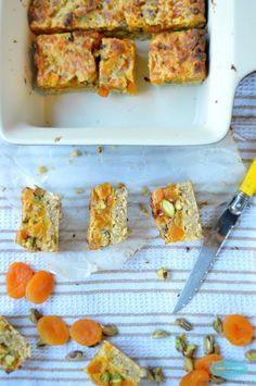Sugar-Free Apricot  Pistachio Square. Lactose free Apricot  Pistachio Square. By SweetAsHoneyNZ.
