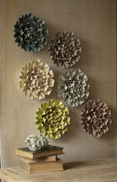 Ceramic Wall Flowers
