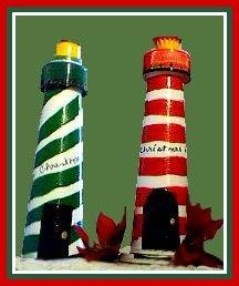 Another Lighthouse craft! boy craft, lighthous christma, christmas decorations, christma idea, lighthous craft, craft ideas, christmas ideas, crafti inspir, adult craft
