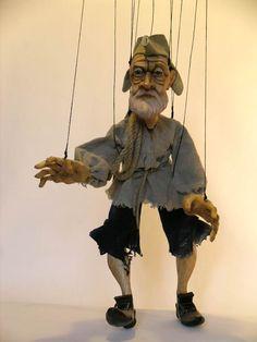 OLD SAILOR, marionette puppet wood