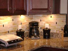 great blacksplash for busy granite counters