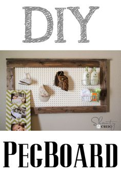 Super Easy Pegboard Decor!  So making this!