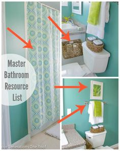 How to make over a bathroom on a budget - master bathroom resource list . www.fourgenerationsoneroof.com