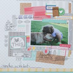 Layout by Megan Klauer using Elle's Studio Sycamore Lane collection