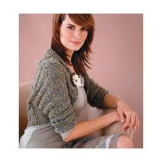 Rolled-Collar Shrug FREE Knitting Pattern from Vogue Knitting.
