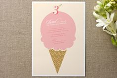 Sweet birthday Children's Birthday Party Invitations by Mandy Gordon at minted.com