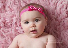 Hot Pink Polka Dot Felt Bow Headband Baby by extrafrostingplease, $8.00