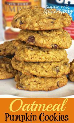 Pumpkin Chocolate Chip Cookies are absolutely delicious! Add oatmeal to the mix and you've got an incredible duo! #pumpkinrecipes #desserts #fall #pumpkin #cookies #pumpkincookies