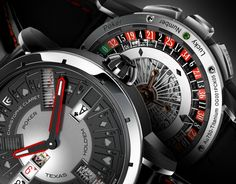 """""""The Christophe Claret [Texas Hold 'Em] Poker watch is the finale in a trilogy of high-complication gaming watches from the master Swiss watchmaker. Going hands-on with the timepiece that plays Texas Hold 'Em poker reveals a few things about the brand, and the art of modern high horology..."""" - """"The Christophe Claret Poker is the most complicated mechanical gaming watch this or any other watch manufacture has ever produced...."""""""