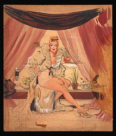 freeman elliott, girl master, master board, pinup girl, pinup art