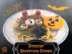 Fall Halloween graveyard meal - fun!