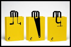 Packaging Packaging clever bags use of handle illusion