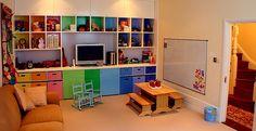 Children's Playroom Basement Conversion