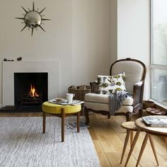 Hardwood floors, please!    And I like the chair.
