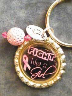 $7.00    Breast Cancer Awareness Keychain  PROCEEDS BEING DONATED THROUGH THE END OF OCTOBER!!!